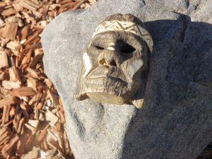 Афроизкуство-Дървена маска на туземец