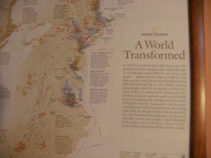 карта на Nacional Geografik в рамка