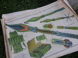 нагледна агитация-плакати за военно обучение-БНА 90/70см
