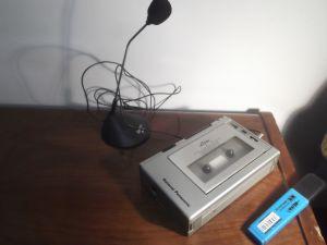 NATIONAL PANASONIC Mini Cassette Tape Recorder RQ-337