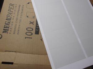 визитни картони MEGAFLEX за принтер формат А4