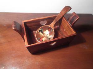 Дървено легенче за аромати за баня и сауна