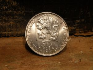 Монета -Чехословакия-50KCS-Jan Kollar 1851-1977г