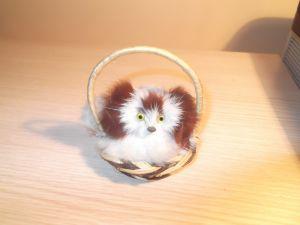 "играчки-сувенири ""Коте в кошничка"""