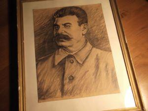 Сталин-картина-графика 33/43см
