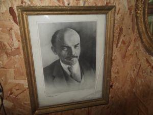 портрет на Ленин  в оригинална рамка 42/52см