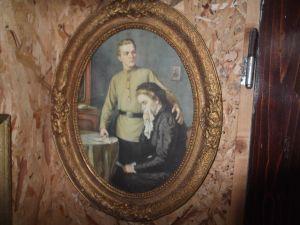 """картина """"Ние ще тръгнем по друг път"""" /Ленин с майка си/ 35/44см"""