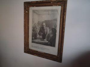 Ленин на конференцията в Прага 1912г-картина 37/47см