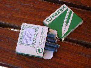 пълнители за писалка/мастило/SHNEIDER-6бр. в кутийка