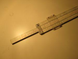 Алуминиева логаритмична линийка 25см