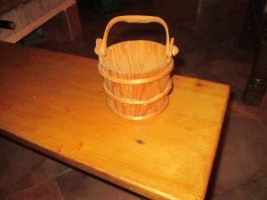 Дървена кофичка за горски ягоди и плодове
