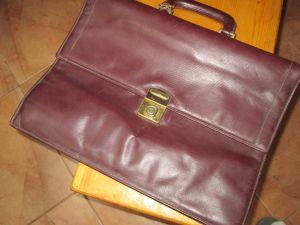 Кожена чанта за документи