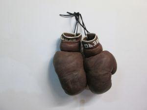 Стари кожени боксови ръкавици с един пръст BERG