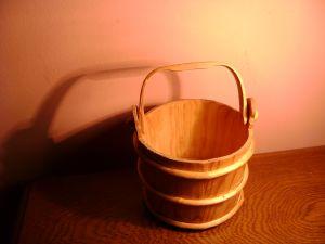 дървена кофа за сирене-12см