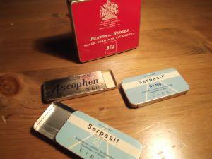 Архивни метални кутийки от лекарства,цигари, таблетки и др.- за колекционери