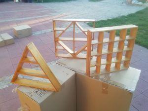 Дървени полички за стена за миниатюри-комплект 3бр
