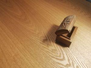 Дървена резбован кутийка за бижу
