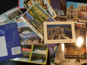 пощенски картички с марки