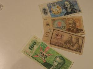 банкноти,монети- Чехословакия/ЧССР/