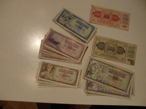 банкноти и монети-Югославия