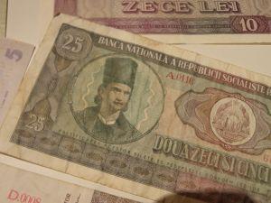 банкноти,монети -Румънски леи