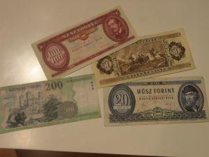банкноти,монети- Унгарски форинти
