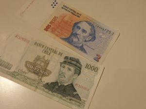 банкноти и монети  -Аржентина ,Чили/песос/,Бразилия