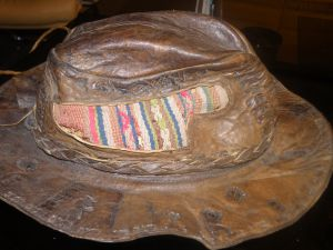 кожена шапка  от Перу