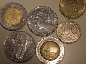 монети -Италия