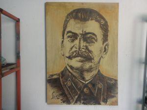 Сталин-рисунка портрет 100/70см.
