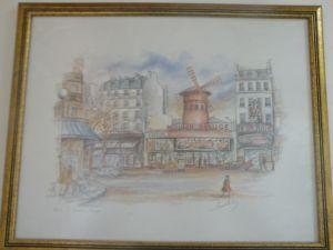 картини от Париж-молив 40/50см-2бр. от 1960г