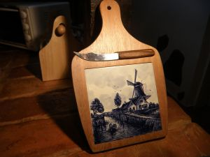 кухненска дъска за рязане с порцеланова плоча